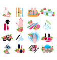 icons for beauty salon beauty shop wellness salon vector image