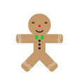 isolated christmas gingerbread icon vector image vector image