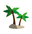 isolated island with palm trees icon image vector image vector image