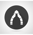 Lancet archway black round icon vector image vector image