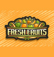 logo for fresh fruits vector image vector image