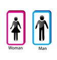 man and woman identity symbol vector image vector image