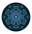 Mandala ornament design vector image vector image