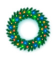 new year and christmas wreath pine branches vector image vector image