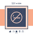 no smoking smoking ban icon cigarette - vector image