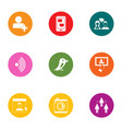 online friend icons set flat style vector image vector image