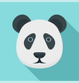 panda head icon flat style vector image vector image