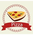 Pizza italian food vector image