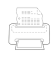 Printer or printing icon of set dotted sketch