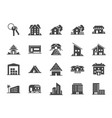 property icon set vector image vector image