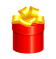 red gift box vector image vector image