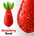 Strawberry bomb vector image vector image