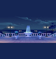 summer seafront at night time quay with ocean view vector image vector image