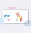 summertime nature vacation holiday and active vector image vector image
