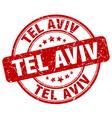 Tel Aviv stamp vector image vector image