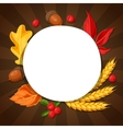 Thanksgiving Day greeting card Background with vector image vector image