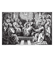 the holy spirit descends on the apostles and vector image vector image