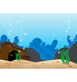Under the sea scene with detail bottom of the sea vector image vector image