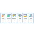 web site onboarding screens school education vector image vector image