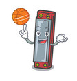 with basketball harmonica character cartoon style vector image
