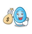 with money bag oxygen mask character cartoon vector image