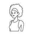 young woman avatar character drawn style image vector image