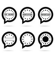 top secret icon in speech bubble vector image
