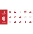 15 thumb icons vector image vector image