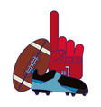 american football game blue lines vector image
