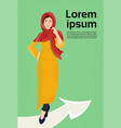arab woman in traditional clothes standing on vector image vector image
