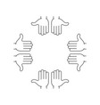 arms hands frame vector image vector image