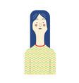 avatars character people set flat female male vector image vector image