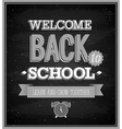 Back To School typographic design vector image vector image