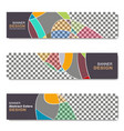 banner abstract web template vector image
