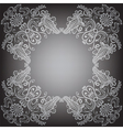 Black background with pattern frame vector image