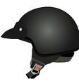 Black police helmet vector image vector image