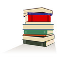 books pile vector image vector image
