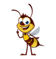 cartoon bee with idea vector image vector image