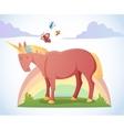 Cartoon magic unicorn vector image vector image