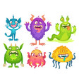 cartoon monster mascot halloween funny monsters vector image