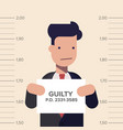 caught guilty businessman or manager with id signs vector image