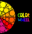 color wheel or color circle on black background vector image vector image