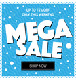 cool banner sales mega sale circles on a blue vector image