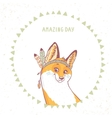 cute funny fox vector image