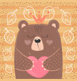 cute princess bear - cartoon vector image