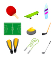 different sport items icon vector image