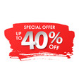 discount 40 percent in paper style vector image vector image