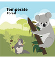 eco style life forest wildlife vector image vector image