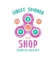 emblem of fidget spinner shop vector image