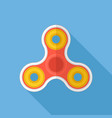 fidget spinner flat design icon vector image